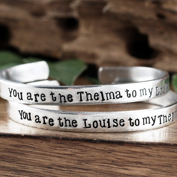 Thelma and Louise Gift,You are the Thelma to my Louise, Best Friend Gifts, Friendship Jewelry, Friend Gift, Gift for BFF, Motivational Gift