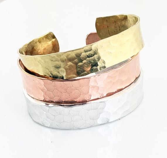Hammered Cuff Bracelet, Hammered Metal Cuff, Modern Bracelet, Cuff Jewelry, Wide Cuff Bracelet, Silver Cuff Bracelet, Copper Hammered Cuff