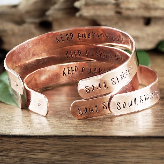 Soul Sisters Bracelet, Keep Fucking Going Bracelet, Keep Going Inspirational Bracelet, Personalized Bracelet, Custom Secret Message Bracelet