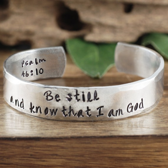 Be Still and Know I am God Bracelet, Bible Verse Bracelet, Psalm 4610, Scripture Bracelet, Scripture Jewelry, Faith Bracelet for Her