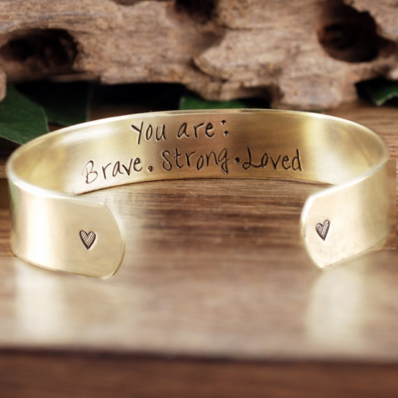You are Loved, Secret Message, Personalized Cuff Bracelet, Inspirational Bracelet, Gift for Daughter, Custom Quote Bracelet, Gift for Her