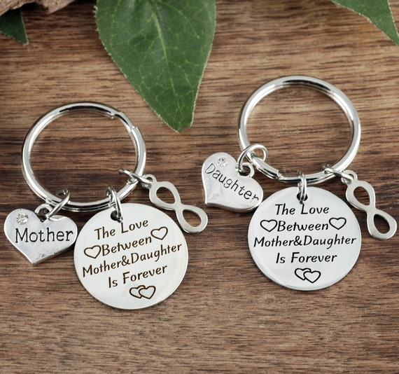 Mother Daughter Keychain Set, Personalized Mom Keychain, Mother Keychain, Daughter Keychain, Gift for Mom, Mother's Gift, Gift for Daughter