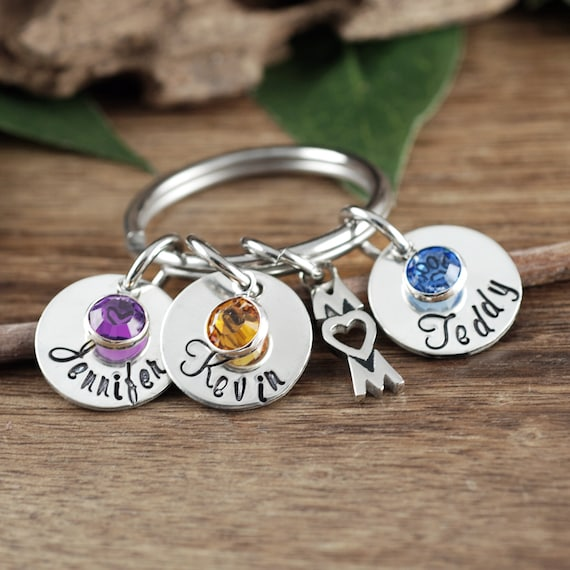 Custom Mom Keychain, Personalized Mom Keychain, Mother's Key chain Gift, Gift For Mom with Kids Names, Mother's Day Gift, Mother's Jewelry