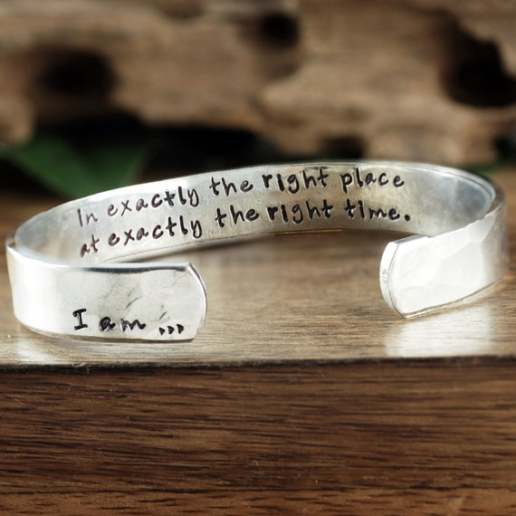 Positive Words Bracelet, I am Beautiful Bracelet, I am Jewelry, I am Bracelet, Inspirational Cuff, Positive Bracelet, Gift for Her