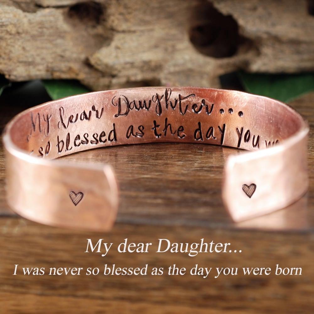 Daughter Bracelet Inspirational Jewelry For Daughter Encouragement