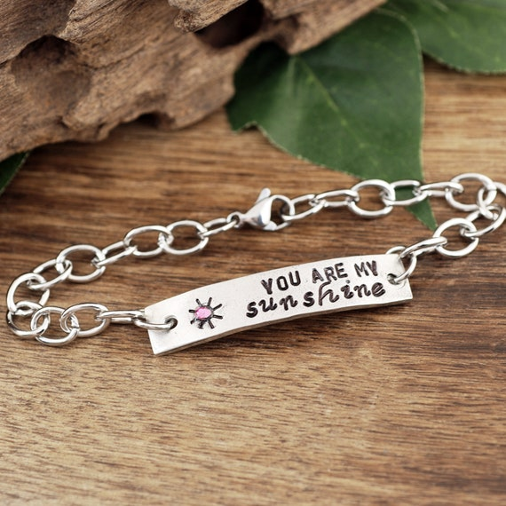 You are my Sunshine Bracelet, Sunshine Jewelry Gift, Sunshine Jewelry for Kids, Gift for Daughter, Gift for Granddaughter, Mother's Day Gift