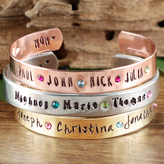 Custom Mom Bracelet-Personalized Name Bracelet-Jewelry for Mom-Mother's Bracelet-Personalized Mom Custom Bracelet-Birthstone Bracelet