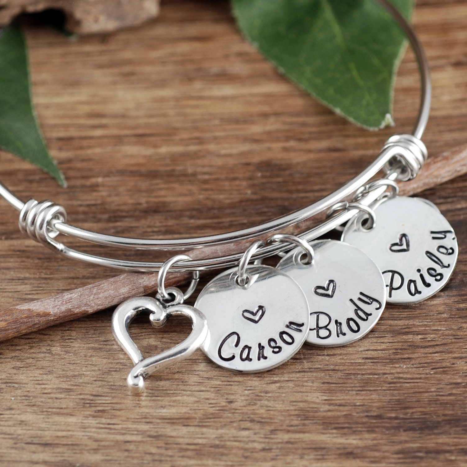 Mothers Charm Bracelet: Personalized Mother's Day Bracelet, Name Bracelet For Mom