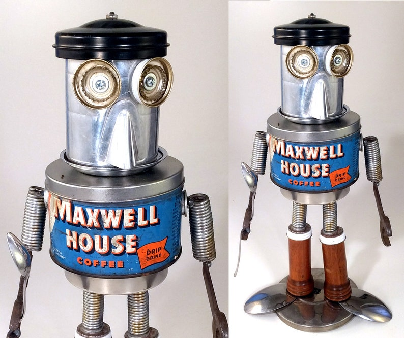 Mighty Maxwell... the House Steampunk Assemblage Robot image 0