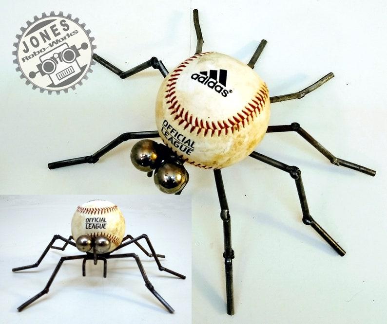 The Basic Ball Spider Bot Steampunk Assemblage Robot Sculpture image 0