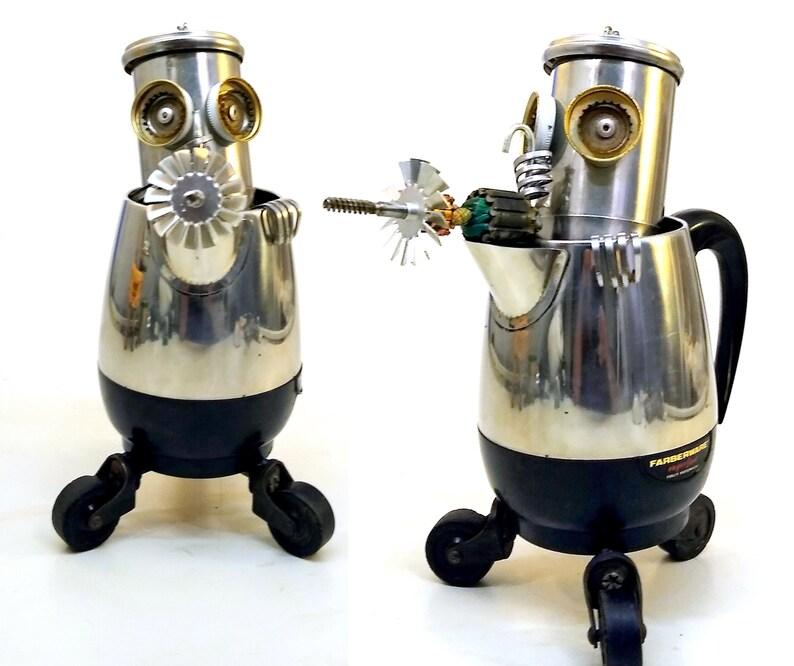 Fighting Frank Farberware Roll-X-Bot Steampunk Assemblage image 0