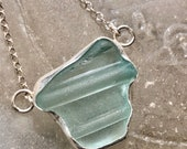 antique mason jar sea glass necklace
