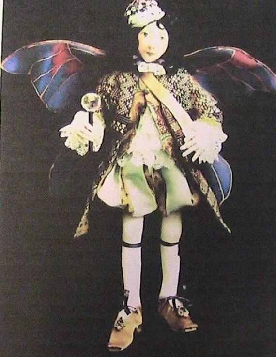 """TALLULAH~JAN HORROX~15/"""" beautiful cloth art doll pattern~simple sculpting"""
