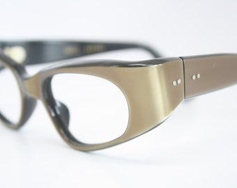 d529c529f6 NOS Small Brown cat eye glasses vintage cateye frames eyeglasses