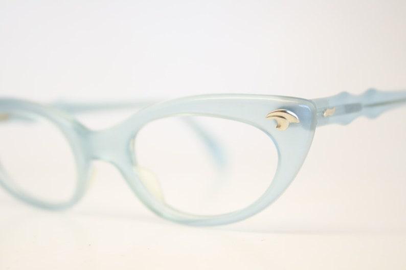 05d036ea04a Baby Blue cat eye glasses fade vintage eyeglass frames