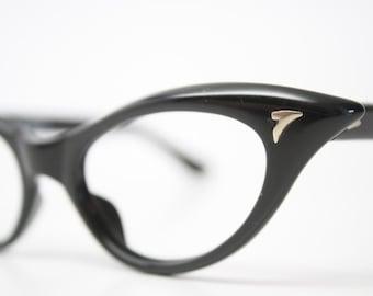 Black cat eye glasses  vintage cateye eyeglasses frames
