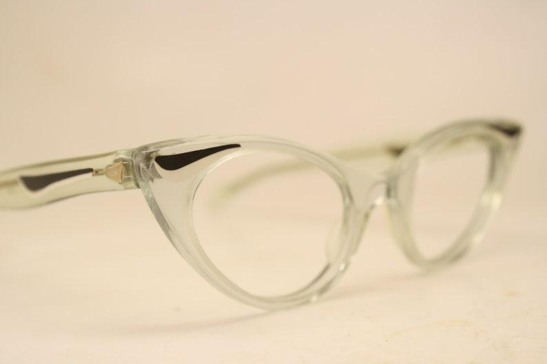 50bb30df121 Unused Clear Vintage Cat eye glasses cat eye frames NOS
