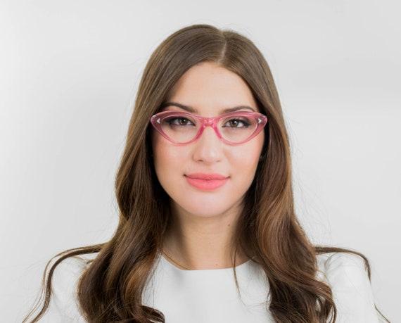 Pink cat eye eyeglasses  vintage cat eye glasses f