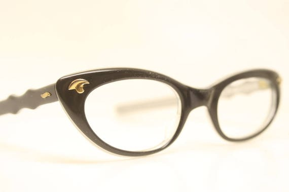 95c0e6a3fc1 Cat Eye Glasses Blue Vintage 1950s Eyewear Vintage Cateye