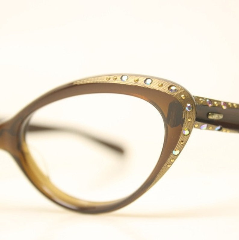 7ee5486aea04 ... Eyeglasses Frame Women (black). Vintage Red Cat Eye Reading Readers Bling  Rhinestones Glasses Rx Strength +2.25. image 0