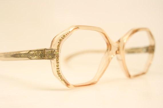 NOS Vintage Light Rhinestone 1960's Eyeglasses Cat