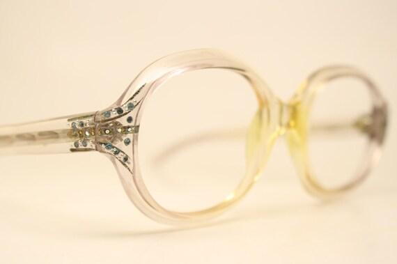 NOS Vintage Rhinestone Oval 1960's Eyeglasses Cate