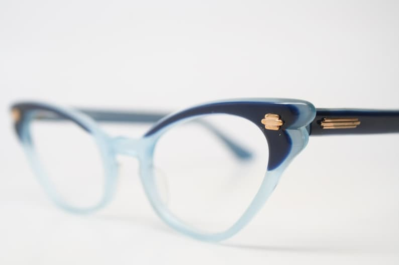 07a817beb9c Two tone blue cat eye glasses vintage cateye eyeglasses