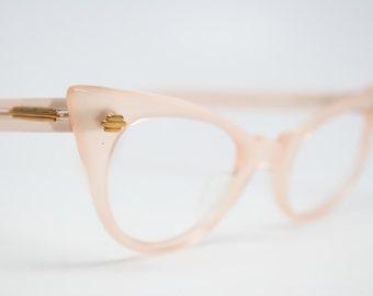Vintage cat eye glasses pink  cateye eyeglasses NOS