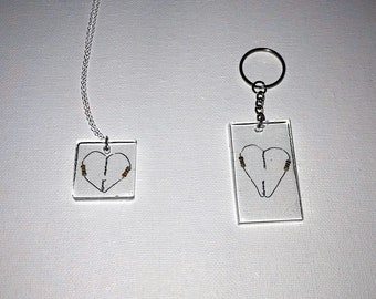 Resistor Heart Necklace or Keychain - I can't resist your love!