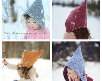 4f137704821 Pixie Hat - PDF sewing pattern - Sizes Infant to 10