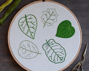 Leaf Embroidery - New Zealand Collection - Digital PDF Pattern + Video