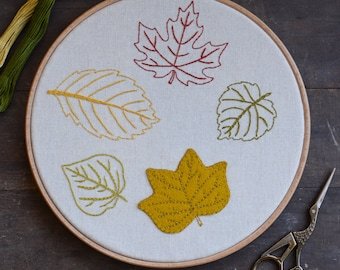 Leaf Embroidery - North American Collection - Digital PDF Pattern + Video