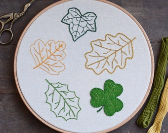 Leaf Embroidery - European Collection - Digital PDF Pattern + Video