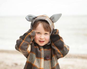 Animal Coat - PDF PATTERN -  Sizes 12m -14 years