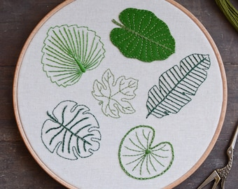 Leaf Embroidery - Tropical Collection - Digital PDF Pattern + Video