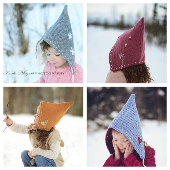 a542361e680 Pixie Hat PDF sewing pattern Sizes Infant to 10