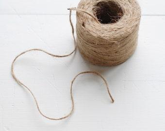 JUTE TWINE - 95 Yards of Natural Jute Twine for home + garden