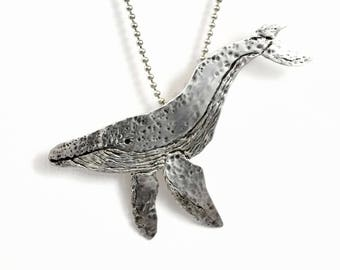 Sterling Whale Jewelry, Ocean Jewelry Gift For Women, Inspiration Jewelry Gift For Mom, Robin Wade Jewelry, Whale Wyatt Enjoys The Ride,2562