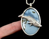 Whale Necklace, Humpback Whale, Gift For Mom, Ocean Necklace, Gift For Her, Inspirational Jewelry, Nature Gift, Robin Wade Jewelry, 2886