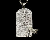 Inspirational Jewelry, Motivational Jewelry, Unusual Jewelry For Women, Angel, No Matter How Dark, Gift For Friend, Robin Wade Jewelry, 2988