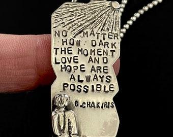 Inspirational Jewelry, Motivational Jewelry Gift, Unusual Jewelry For Women, No Matter How Dark, Gift For Friend, Robin Wade Jewelry, 3071