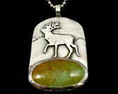 Nature Necklace, Best Selling Items, Deer Necklace, Gift For Men, Nature Jewelry, Gift For Her, Inspired By Nature, Robin Wade Jewelry,2915