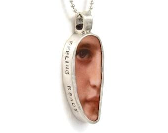 Inspiration Jewelry Gift For Women, Meaningful Jewelry Sterling Silver, Unusual Jewelry Gift, Robin Wade Jewelry, Feeling Ready Pendant,2516