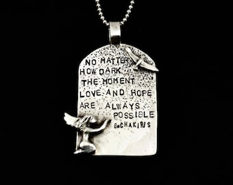 Angel, Inspirational Quotes, Hope, Necklaces For Women, Sterling Silver Jewelry, Robin Wade Jewelry, Handmade Jewelry, Angel Pendant, 2624