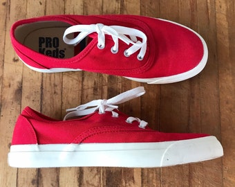 94803b9c704 Vintage Shoes   Pro Keds   Sneakers   Running Shoes   Red   Canvas   Lace  Up   1990s Shoes   Designer   Size 7   Spring Fashion   Easter