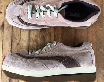 separation shoes 590df 14fec Chaussures plateforme vintage vintage baskets des années 1990 de chaussures  à lacets     Pink Suede   chaussures printemps   90 s de mode   épices  filles   ...