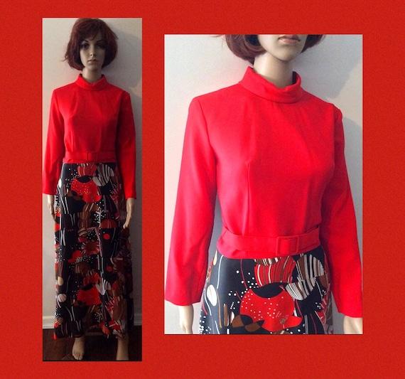 Mod Dress 1960s Dress Vintage Dress 60s Mod Dress