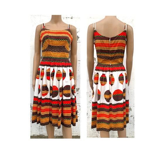 Dress Sundress 1960s Womens Dress Spring Dress Sum