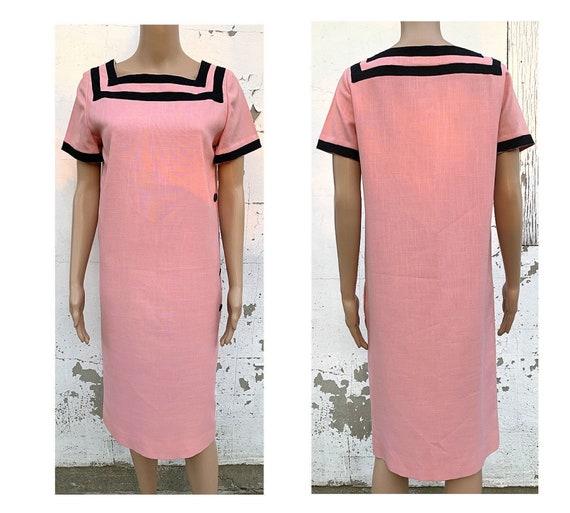 Dress Secretary Dress Day Dress Vintage Pink Dress