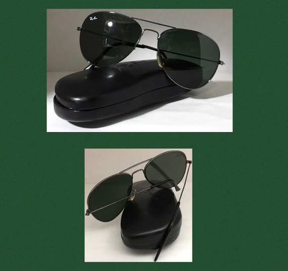 B&L Ray Ban Sunglasses G15 Aviators Greengrey Glas